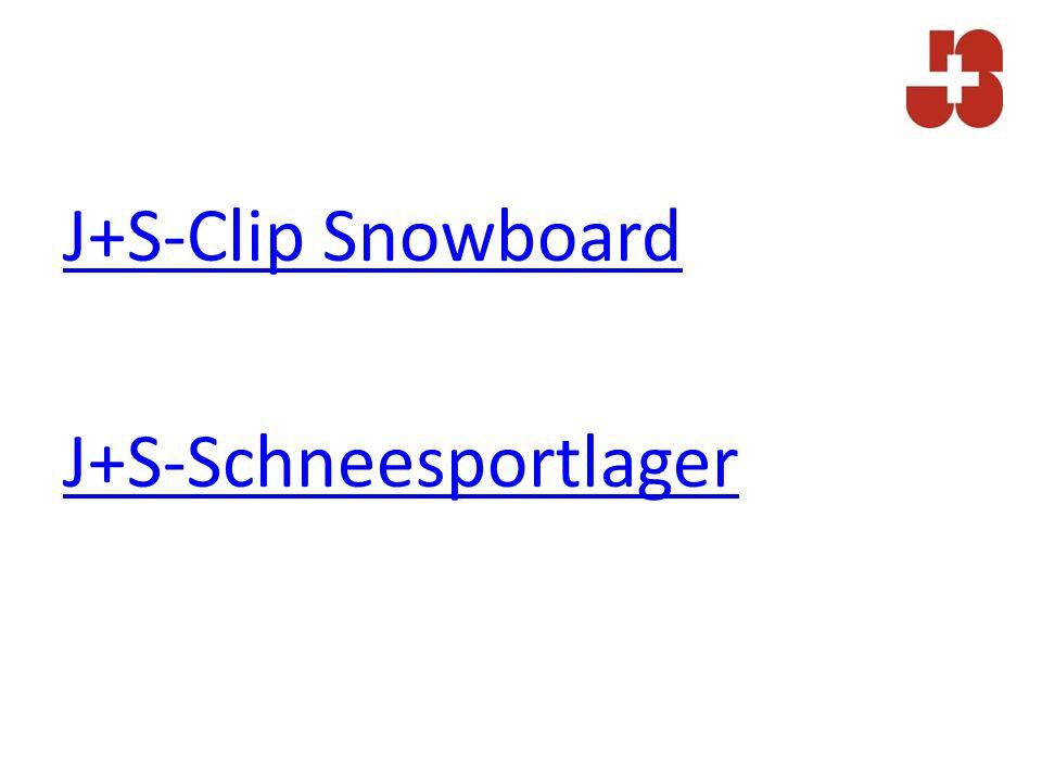 J+S-Clip Snowboard J+S-Schneesportlager