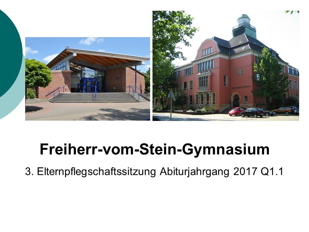 Freiherr-vom-Stein-Gymnasium 3. Elternpflegschaftssitzung Abiturjahrgang 2017 Q1.1