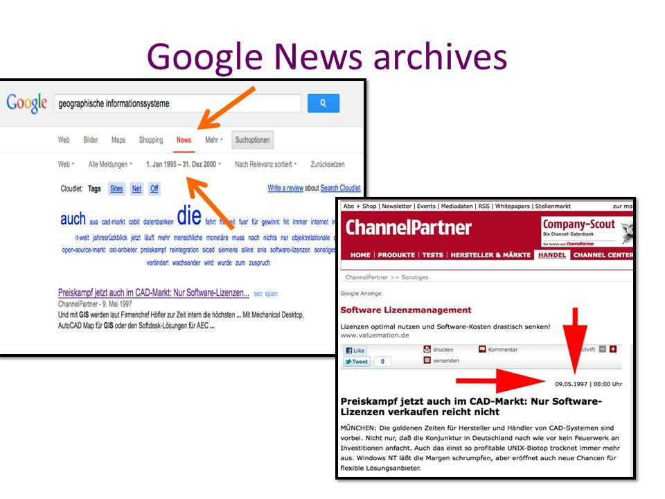 Google News archives