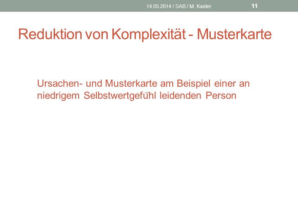 Reduktion von Komplexität - Musterkarte 14.05.2014 / SAB / M.