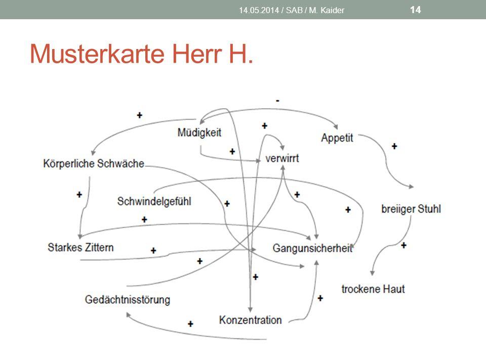 Musterkarte Herr H. 14.05.2014 / SAB / M. Kaider 14