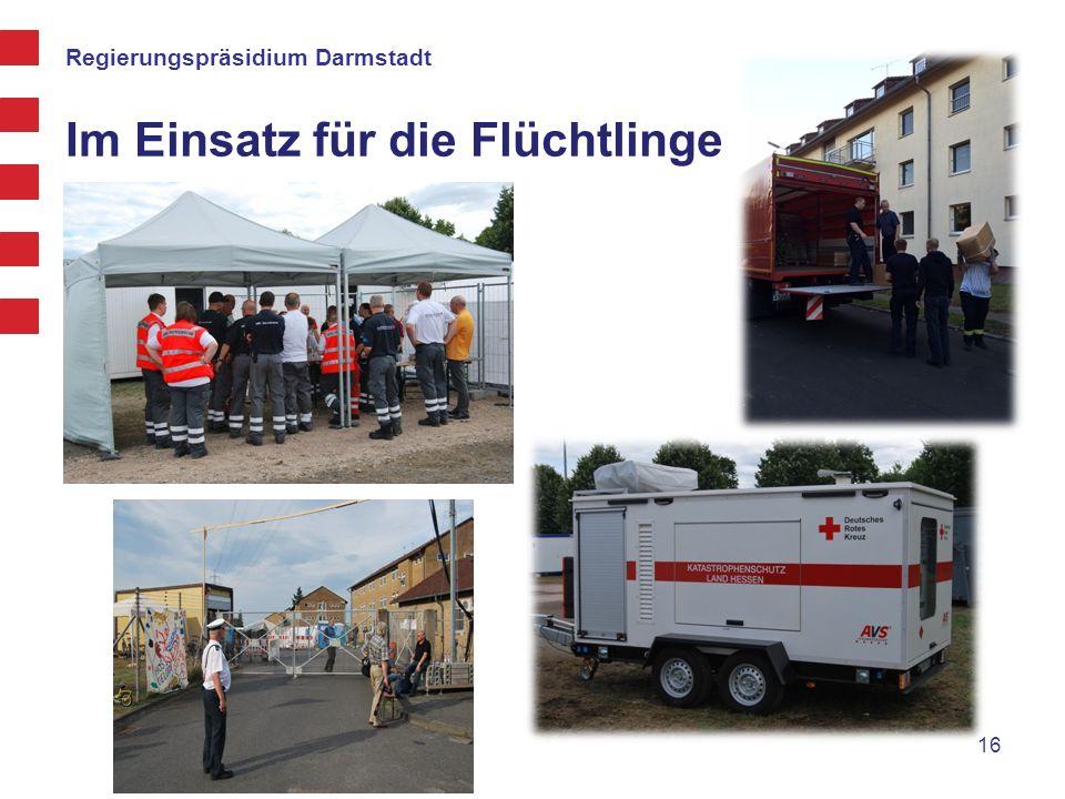 Regierungspräsidium Darmstadt Im Einsatz für die Flüchtlinge 16