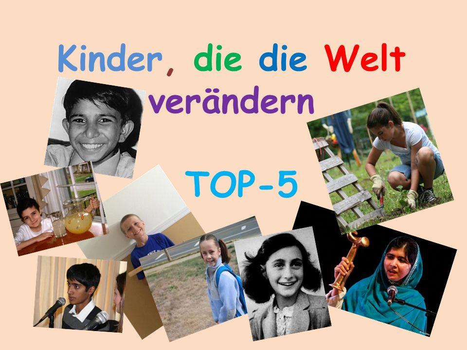 Kinder, die die Welt verändern TOP-5