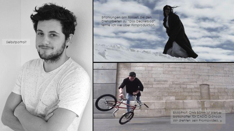 BMX-Profi Chris Böhm ist Werbe- botschafter für CASIO G-Shock. Wir drehten sein Promovideo. Selbstportrait Erfahrungen am Filmset: Bei den Dreharbeite