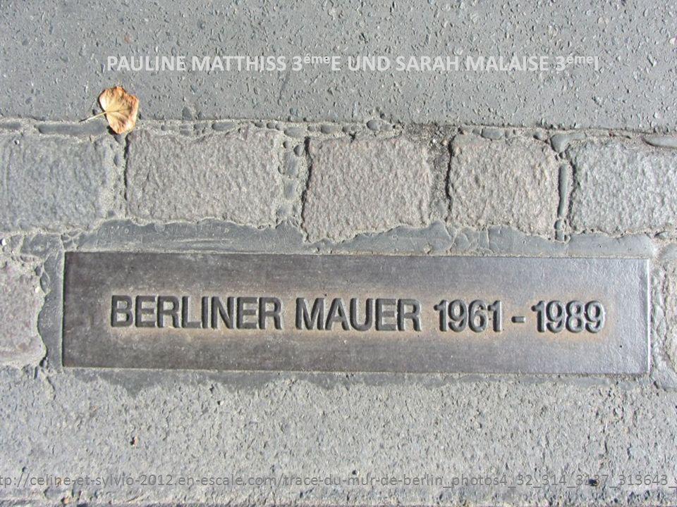 Die Berliner Mauer stand in Berlin von 1961 bis den 9.