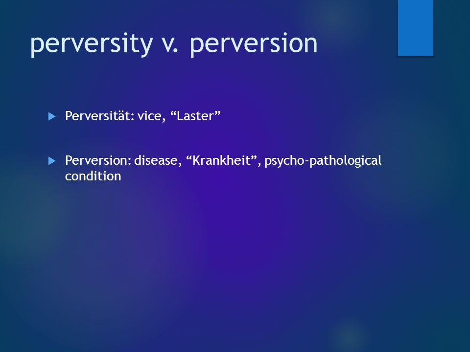 perversity v.