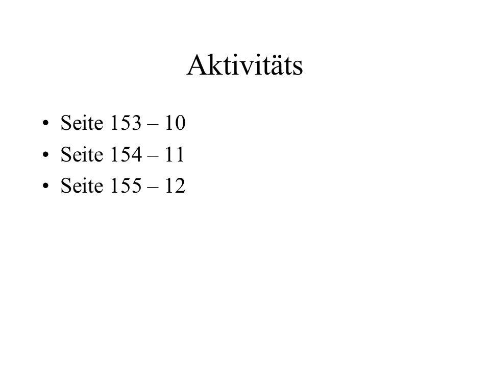 Aktivitäts Seite 153 – 10 Seite 154 – 11 Seite 155 – 12