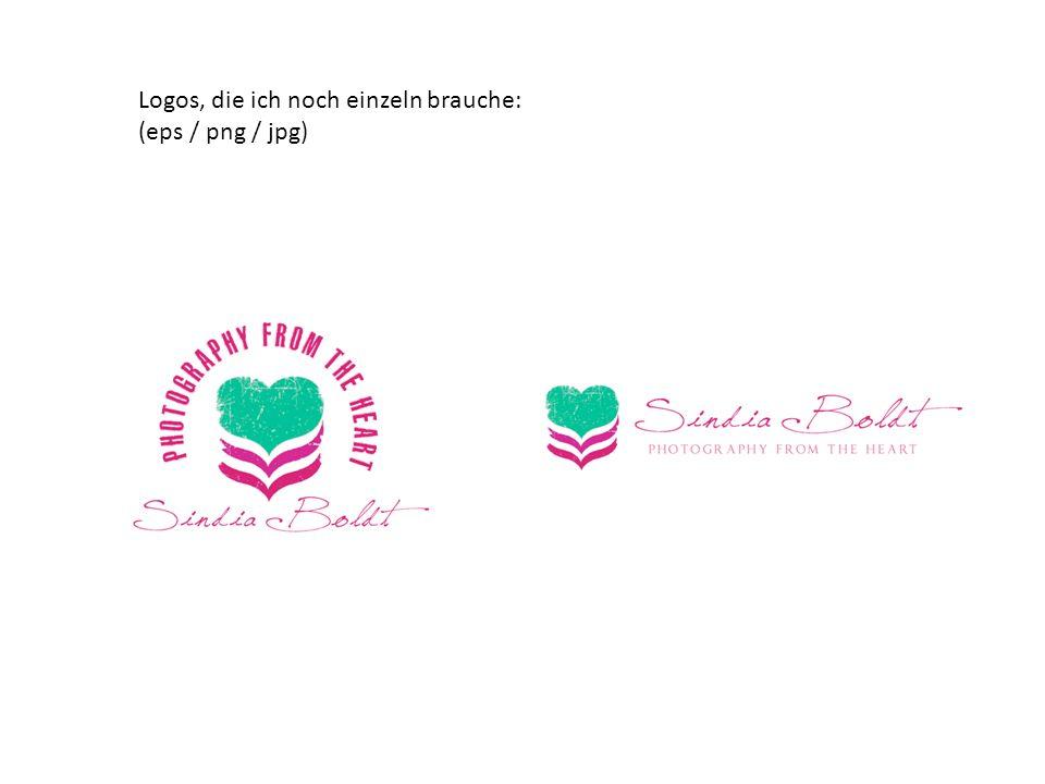 Logos, die ich noch einzeln brauche: (eps / png / jpg)