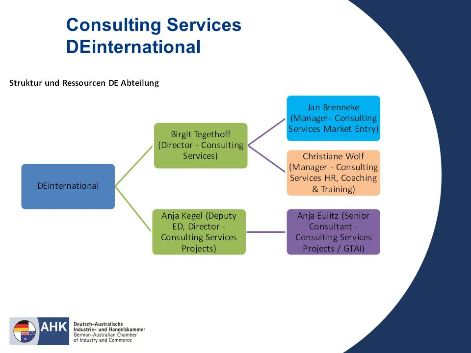 Consulting Services DEinternational