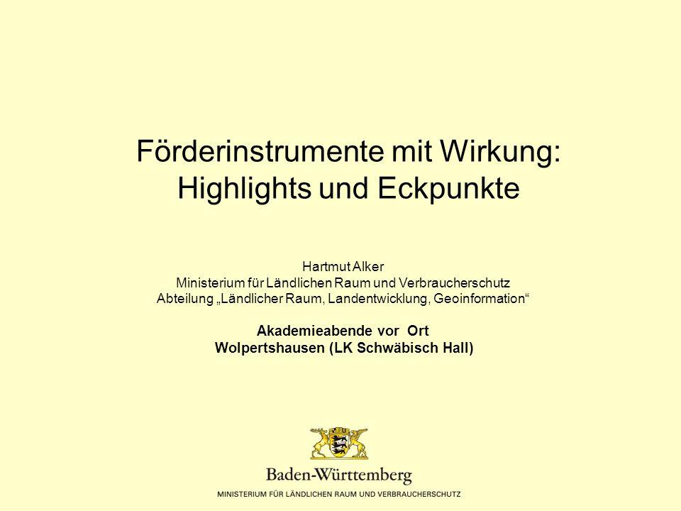 Ländlicher Raum Folie 2 Der Ländliche Raum umfasst  70 % der Fläche Baden- Württembergs  34 % der Bevölkerung  655 von 1101 Gemeinden
