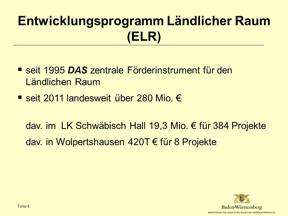 Entwicklungsprogramm Ländlicher Raum (ELR) - Weiterentwicklung ab 2014  Innenentwicklung.