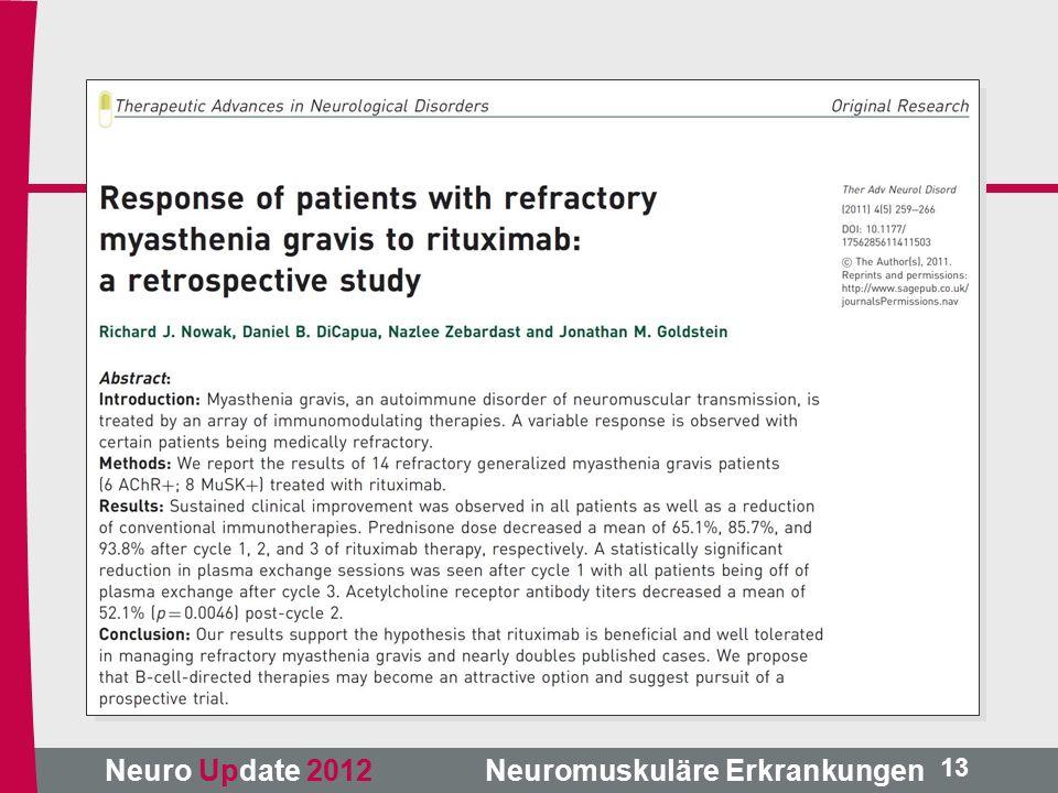 Neuro Update 2012 Neuromuskuläre Erkrankungen 13