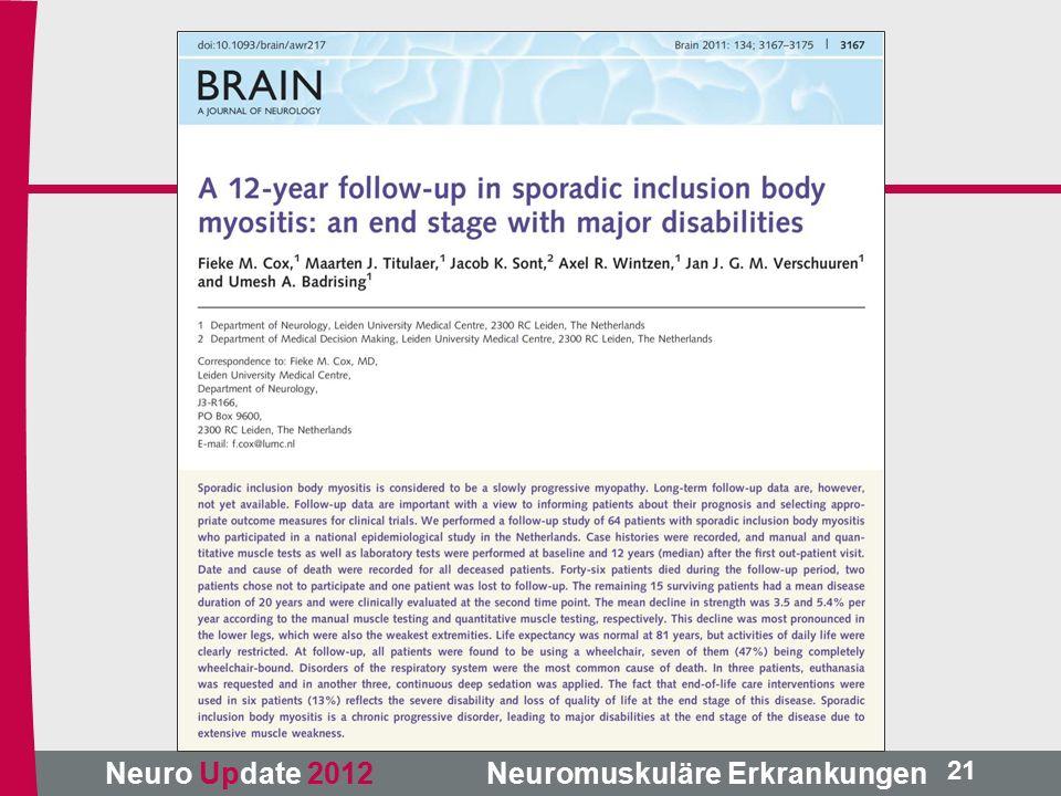 Neuro Update 2012 Neuromuskuläre Erkrankungen 21