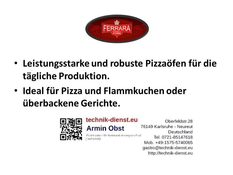 FERRARA Leistungsstarke und robuste Pizzaöfen für die tägliche Produktion.