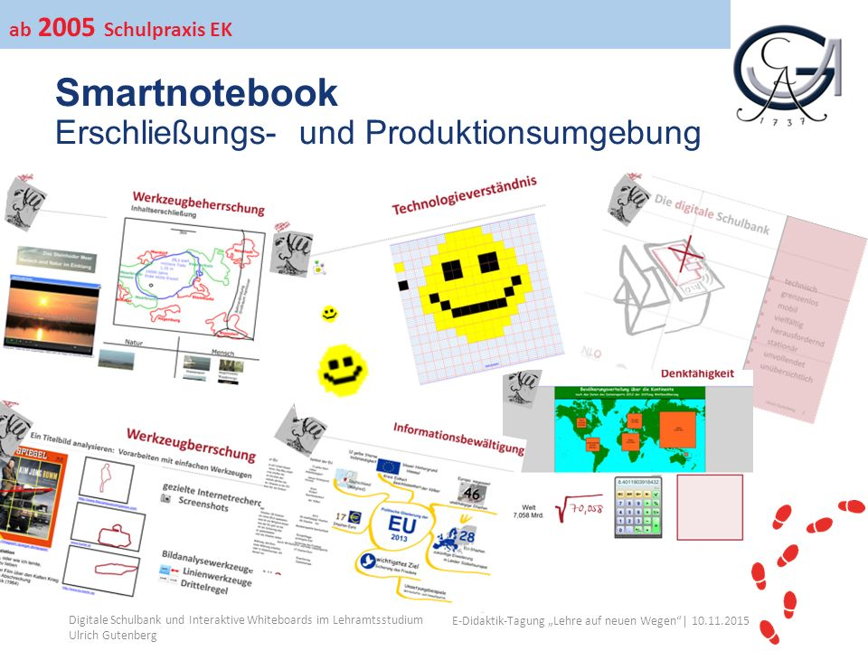 """Ihr Uni-Logo E-Didaktik-Tagung """"Lehre auf neuen Wegen""""│ 10.11.2015 Smartnotebook Erschließungs- und Produktionsumgebung Digitale Schulbank und Interak"""