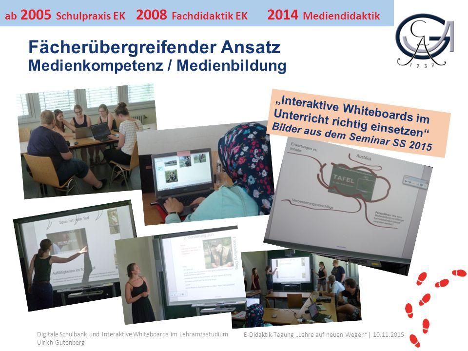"""Ihr Uni-Logo E-Didaktik-Tagung """"Lehre auf neuen Wegen""""│ 10.11.2015 Fächerübergreifender Ansatz Medienkompetenz / Medienbildung Digitale Schulbank und"""