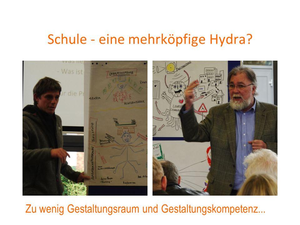Schule - eine mehrköpfige Hydra? Zu wenig Gestaltungsraum und Gestaltungskompetenz...