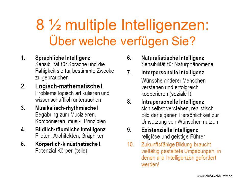 8 ½ multiple Intelligenzen: Über welche verfügen Sie.