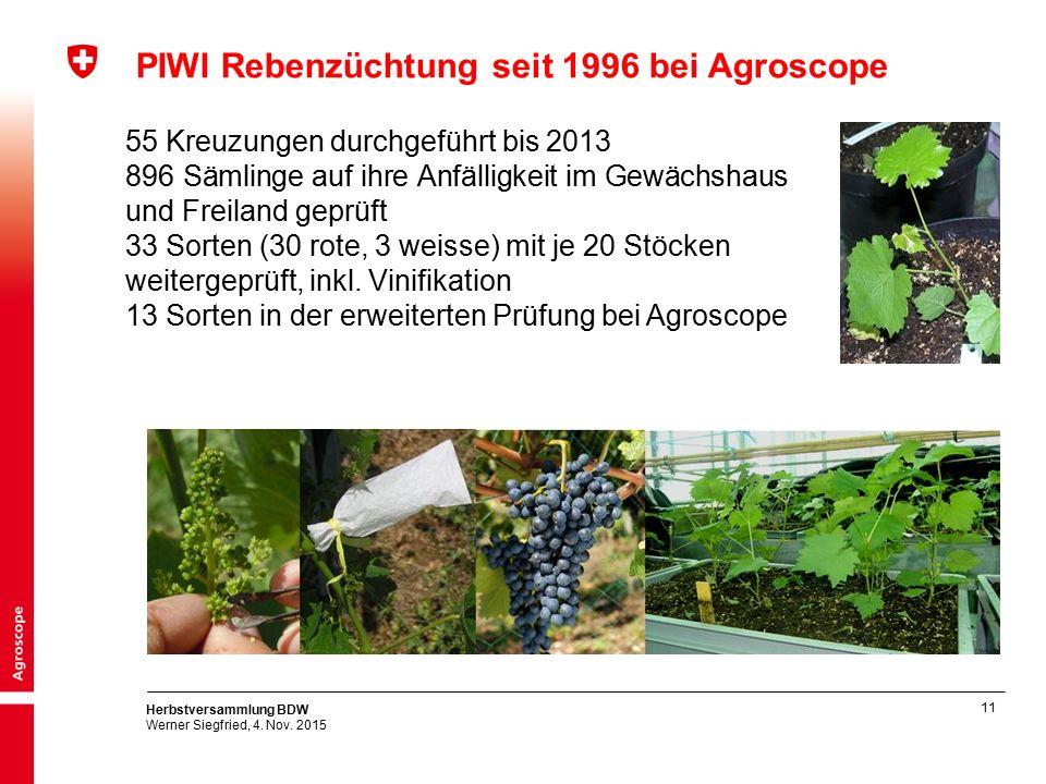11 Herbstversammlung BDW Werner Siegfried, 4. Nov.