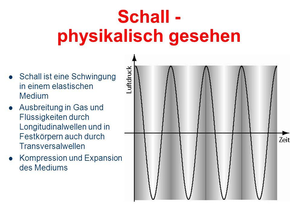 Themenübersicht Schall - Grundlagen Das Ohr ist ein empfindliches Messinstrument Das Gehör: – Aufbau und Funktion des peripheren Hörorgans Der Kopf al
