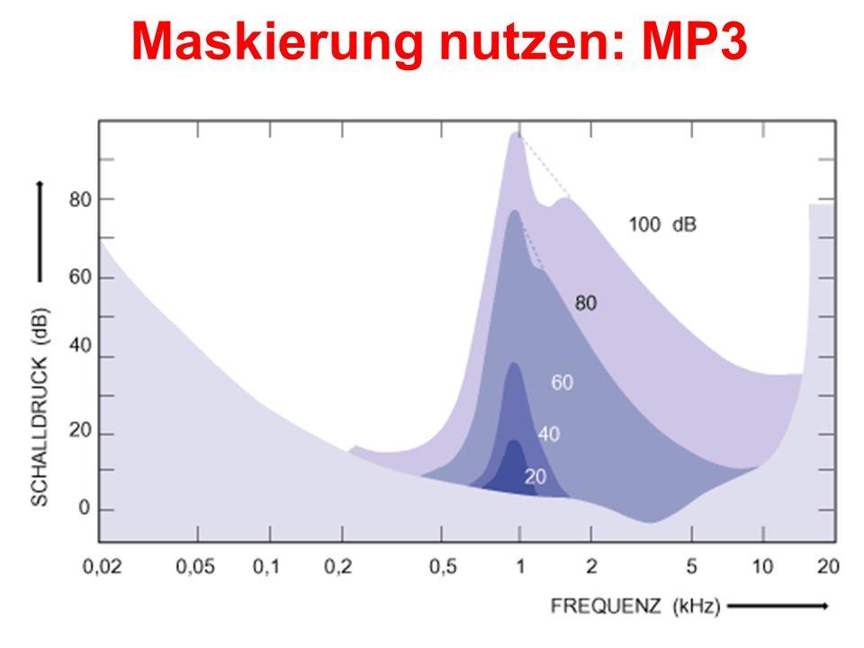 Kodierung von Zeitdauer und Intensität Zeitdauer der Aktivierung der Hörnervzelle entspricht der Zeitdauer des Stimulus Entladungsrate kodiert Intensi