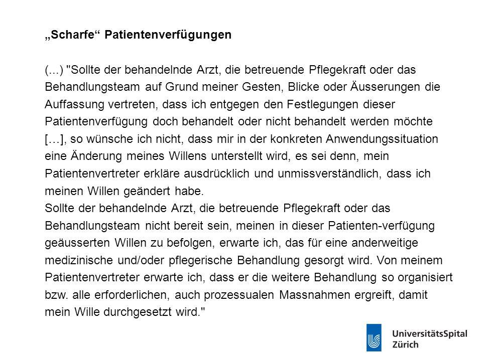 """""""Scharfe"""" Patientenverfügungen (...)"""