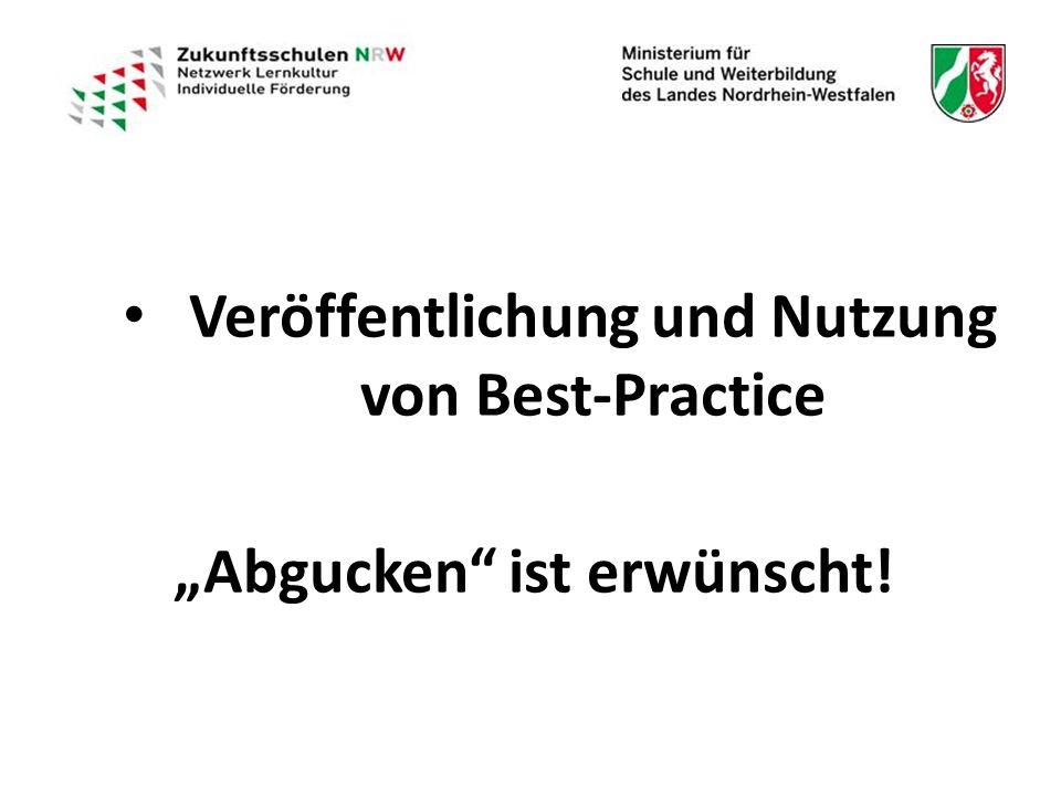 """Veröffentlichung und Nutzung von Best-Practice Veröffentlichung und Nutzung von Best-Practice """"Abgucken ist erwünscht!"""