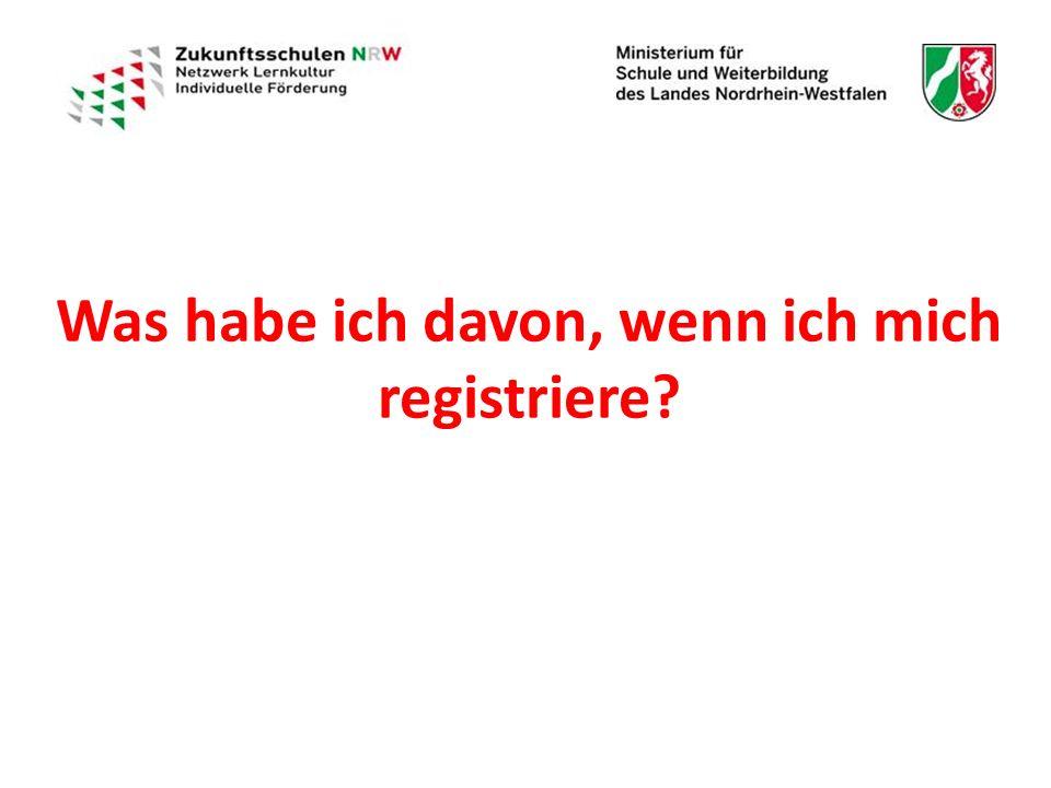 Was habe ich davon, wenn ich mich registriere?