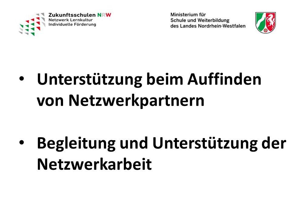 Unterstützung beim Auffinden von Netzwerkpartnern Unterstützung beim Auffinden von Netzwerkpartnern Begleitung und Unterstützung der Netzwerkarbeit Begleitung und Unterstützung der Netzwerkarbeit