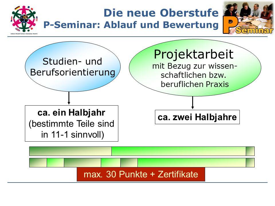 Studien- und Berufsorientierung Projektarbeit mit Bezug zur wissen- schaftlichen bzw.