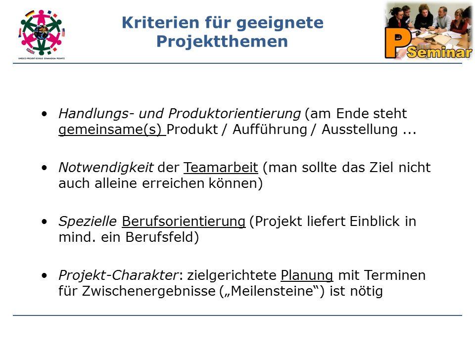 Handlungs- und Produktorientierung (am Ende steht gemeinsame(s) Produkt / Aufführung / Ausstellung...
