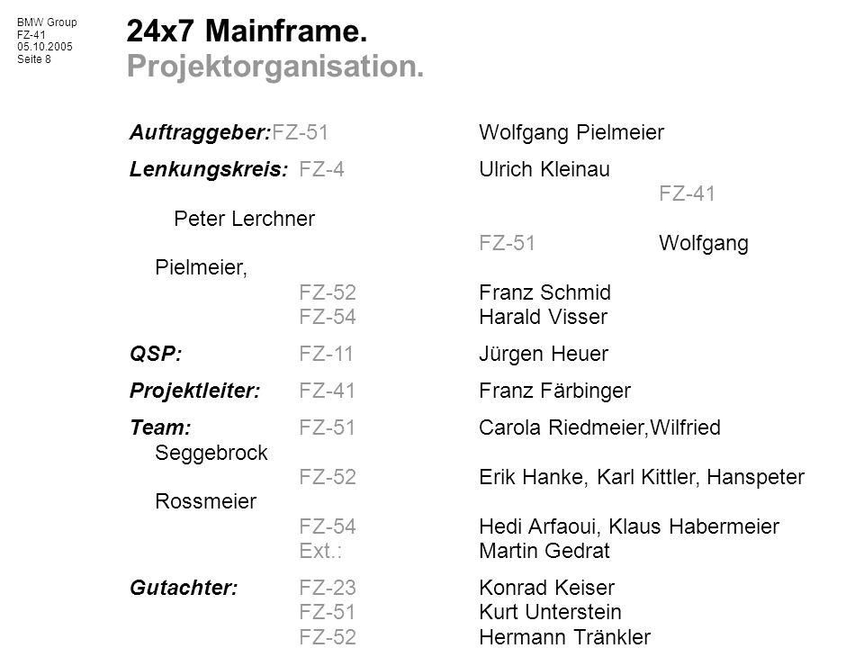 BMW Group FZ-41 05.10.2005 Seite 8 24x7 Mainframe.