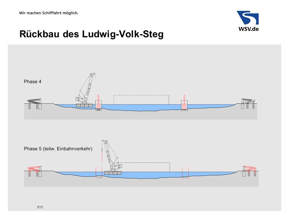 Rückbau des Ludwig-Volk-Steg S13