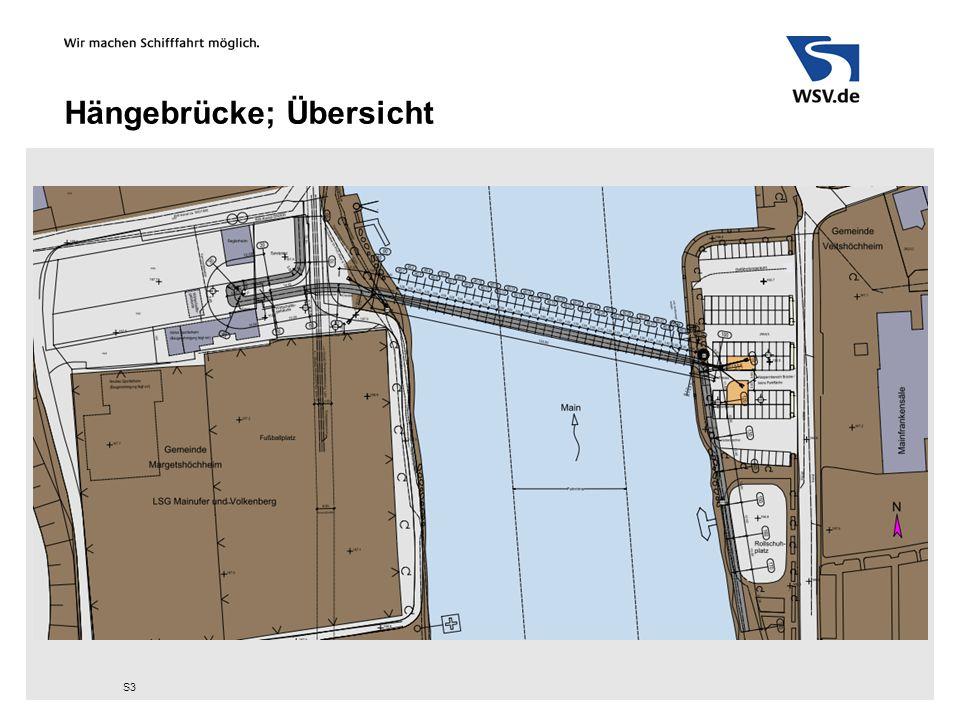 Hängebrücke; Ansicht und Schnitt S4