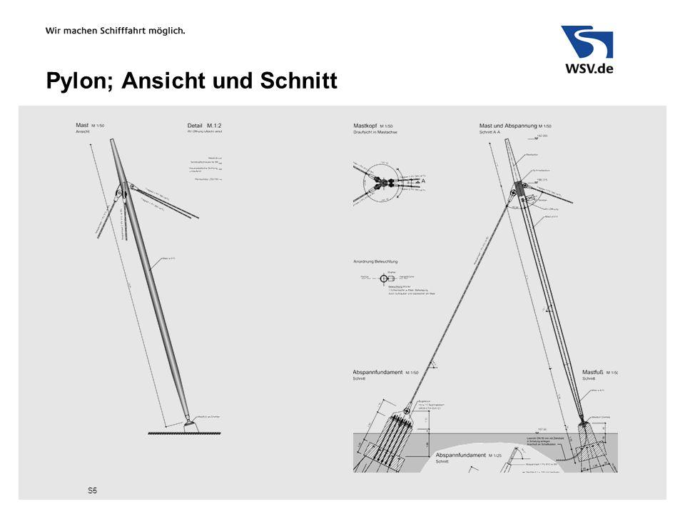 Pylon; Ansicht und Schnitt S5