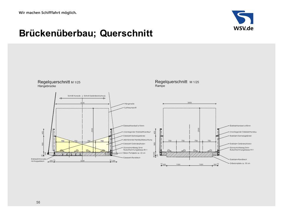 Brückenüberbau; Querschnitt S6