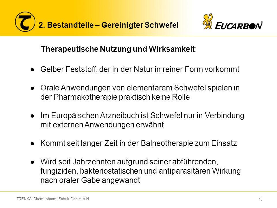 10 TRENKA Chem.pharm. Fabrik Ges.m.b.H 2.