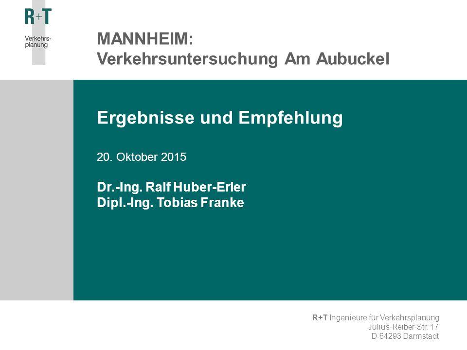 Ergebnisse und Empfehlung 20. Oktober 2015 Dr.-Ing.