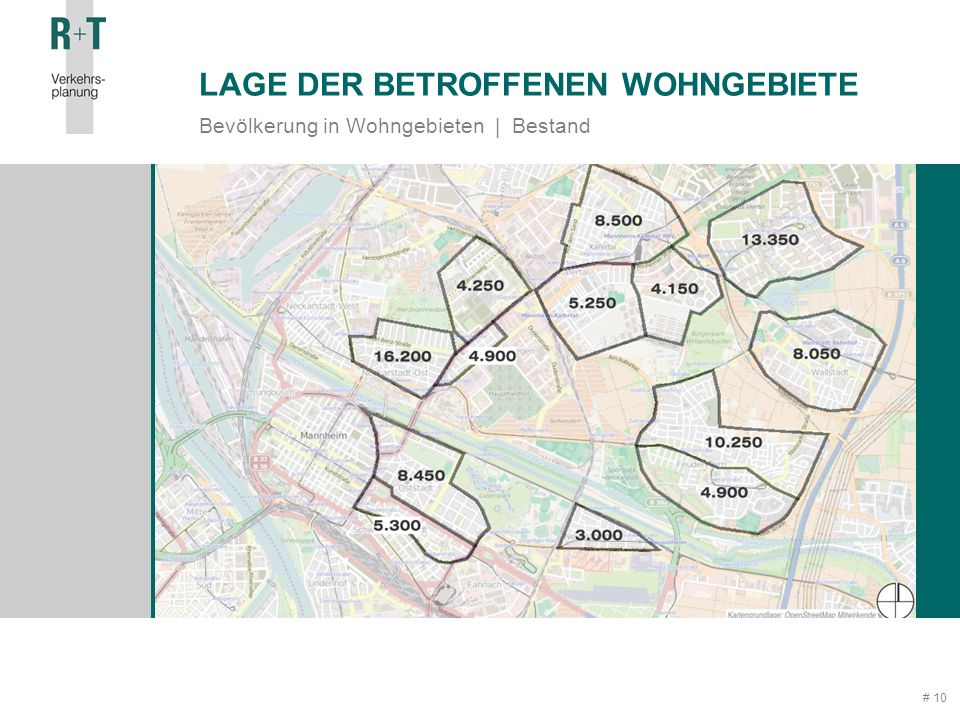 # 10 Bevölkerung in Wohngebieten | Bestand LAGE DER BETROFFENEN WOHNGEBIETE