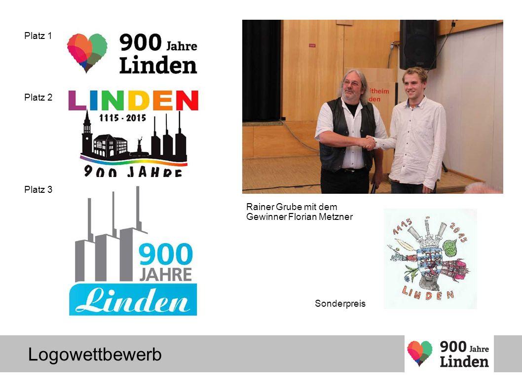 Platz 1 Platz 2 Platz 3 Sonderpreis Rainer Grube mit dem Gewinner Florian Metzner