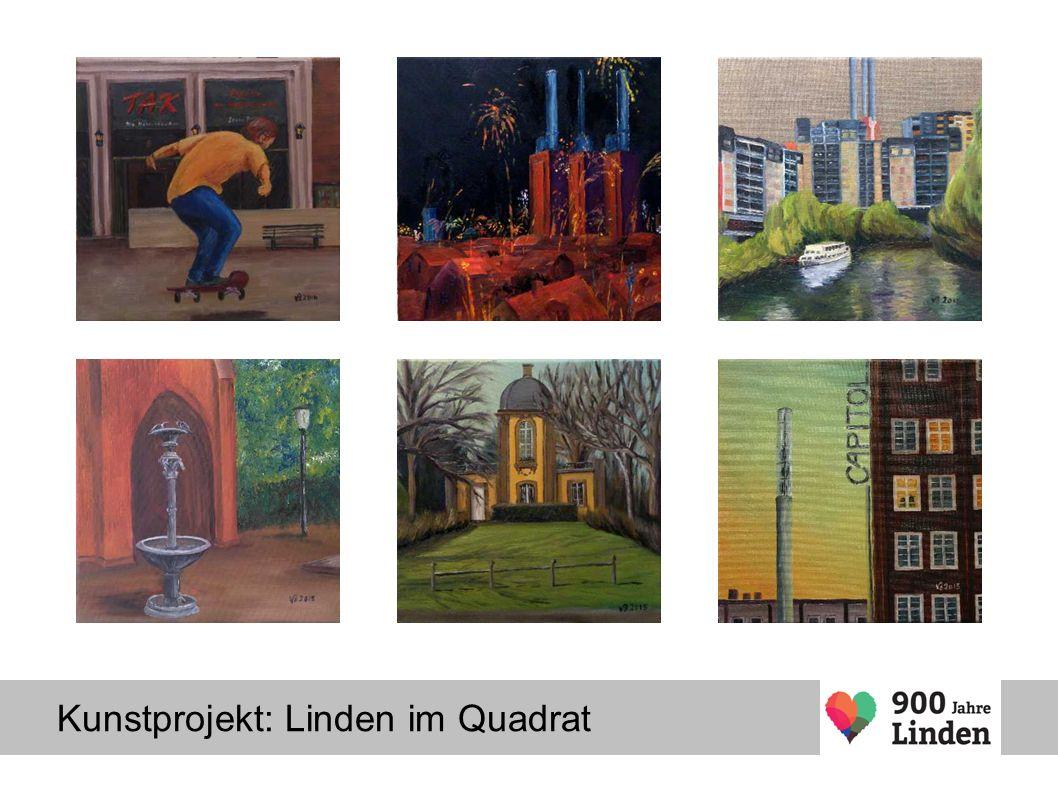 Kunstprojekt: Linden im Quadrat