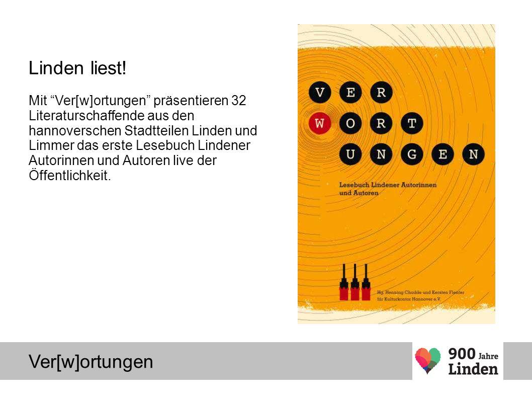 Ver[w]ortungen Linden liest.