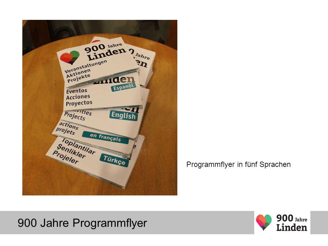900 Jahre Programmflyer Programmflyer in fünf Sprachen