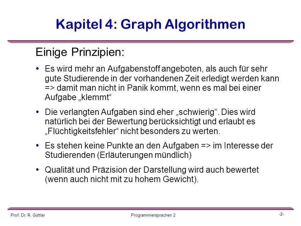 Programmiersprachen II Vorbesprechung Klausur Prof. Dr. Reiner Güttler Fachbereich GIS HTW