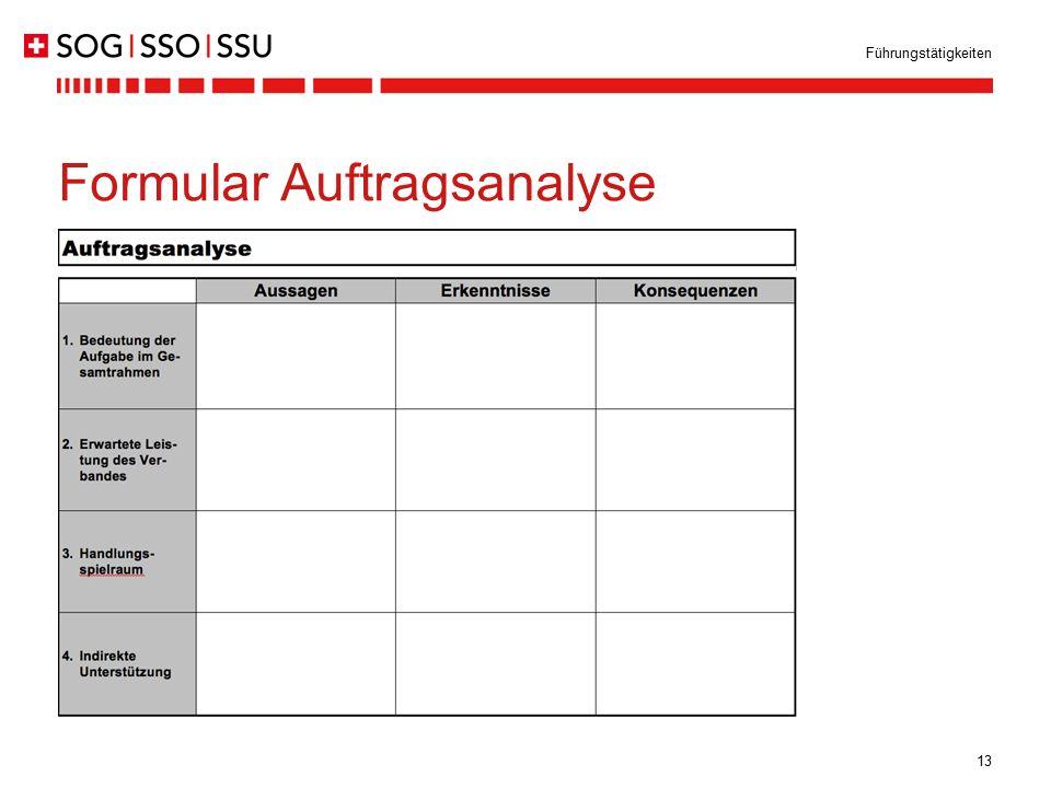 13 Führungstätigkeiten Formular Auftragsanalyse