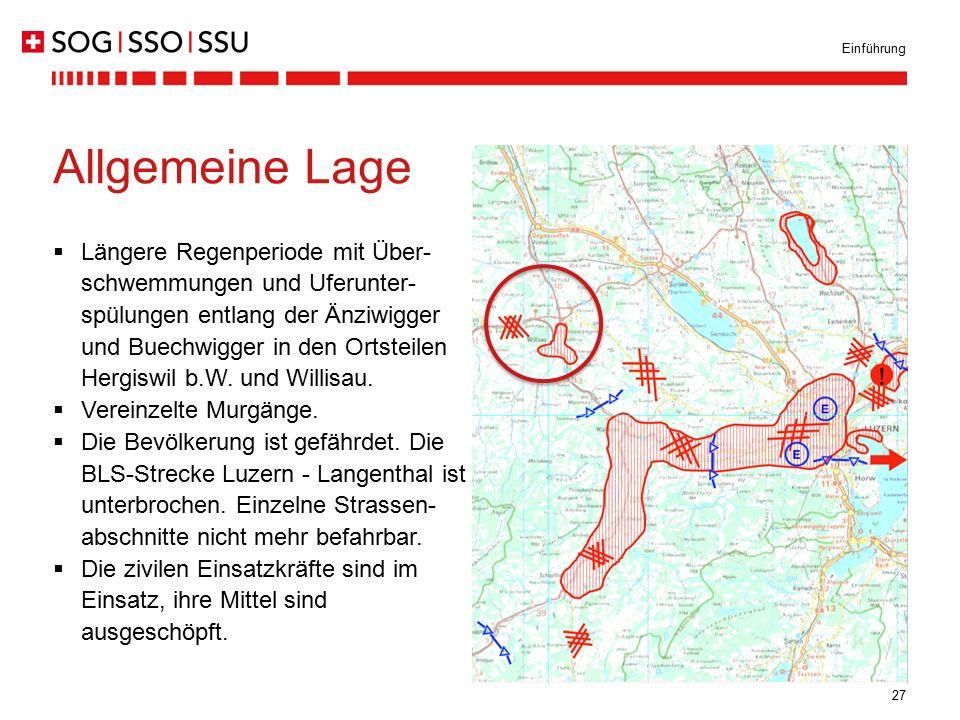27  Längere Regenperiode mit Über- schwemmungen und Uferunter- spülungen entlang der Änziwigger und Buechwigger in den Ortsteilen Hergiswil b.W. und