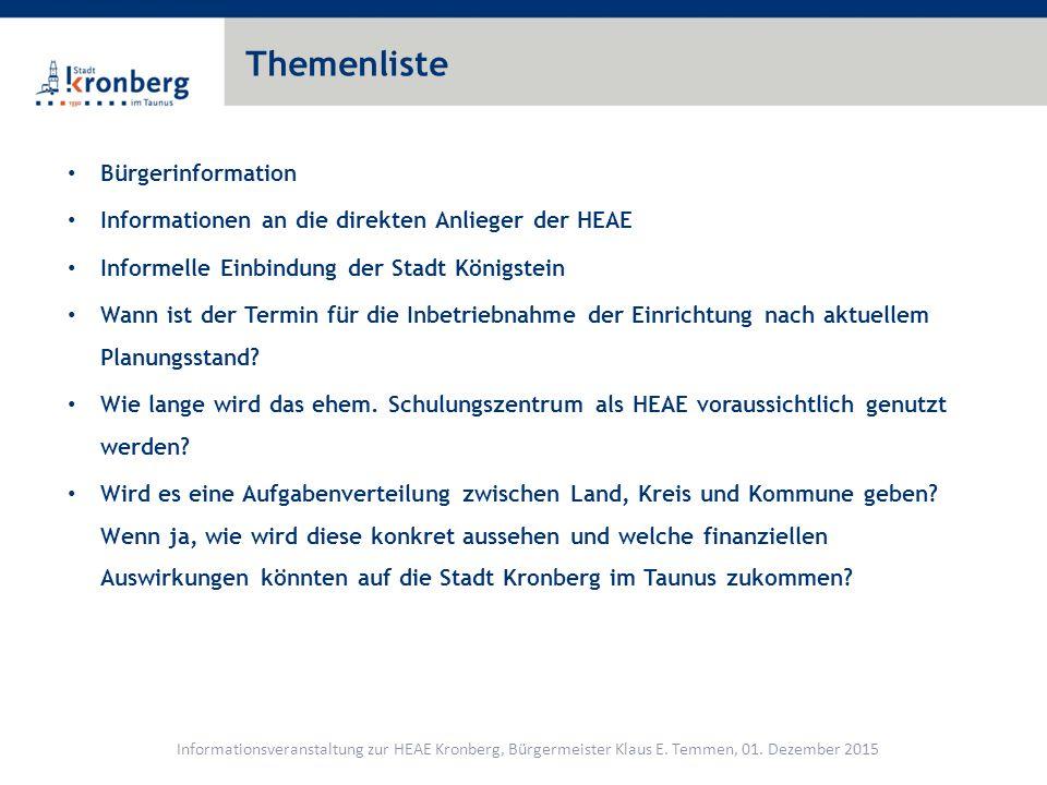Themenliste Ist die Einbindung von Ehrenamtlichen vorgesehen (ggf.