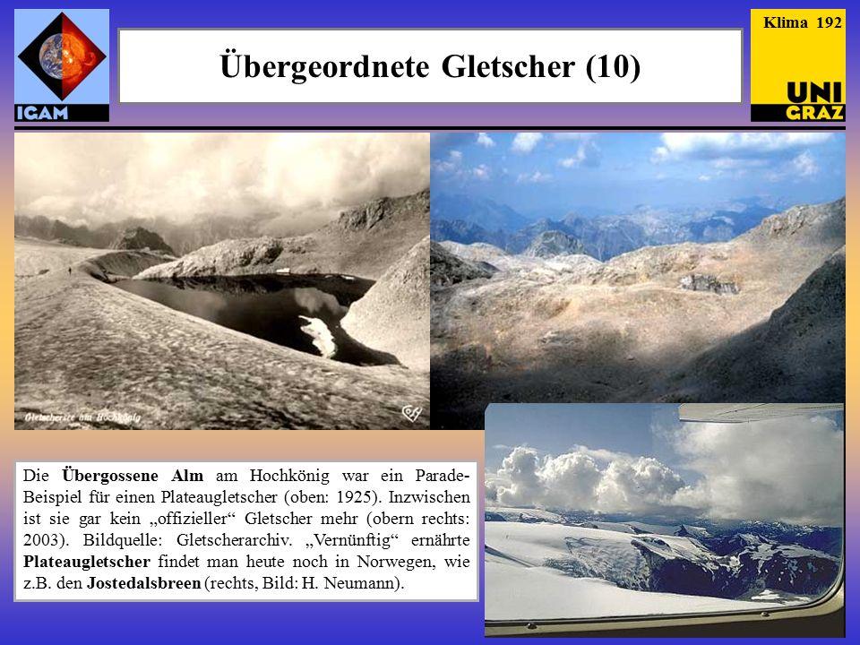 Die Übergossene Alm am Hochkönig war ein Parade- Beispiel für einen Plateaugletscher (oben: 1925).