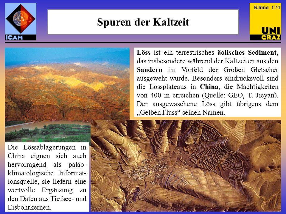 Spuren der Kaltzeit Löss ist ein terrestrisches äolisches Sediment, das insbesondere während der Kaltzeiten aus den Sandern im Vorfeld der Großen Gletscher ausgeweht wurde.