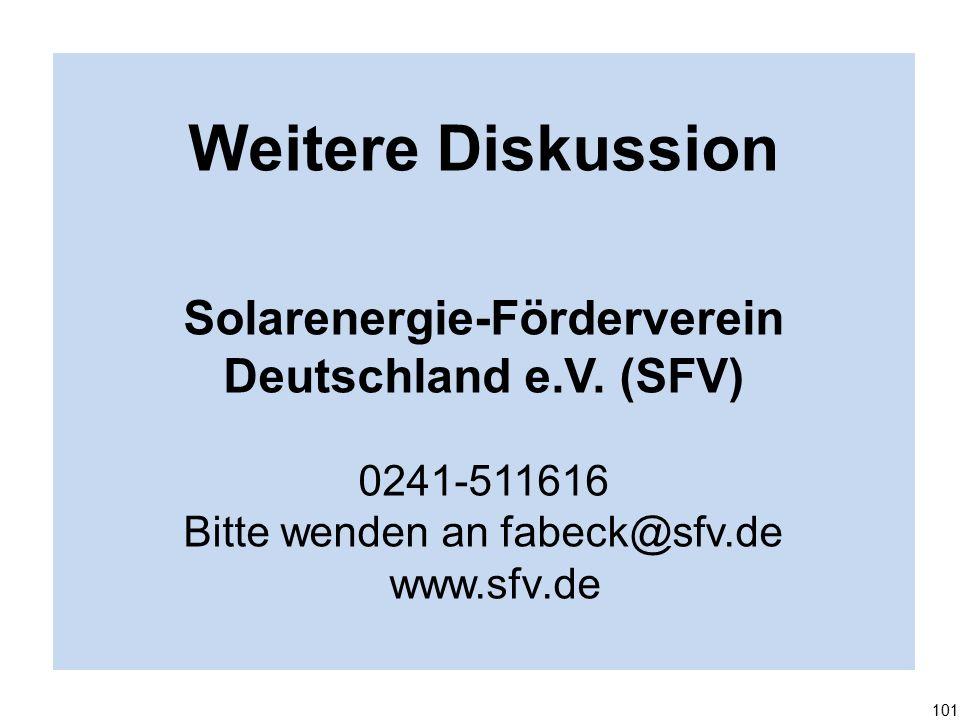 Weitere Diskussion Solarenergie-Förderverein Deutschland e.V.